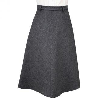 Cordings Light Grey A Line Loden Skirt Main Image