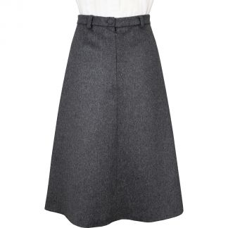 Cordings Light Grey A Line Loden Skirt Different Angle 1