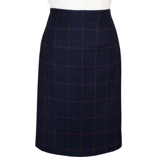 Cordings Navy Cowley Pencil Skirt Main Image