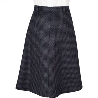 Cordings Navy Abbot Tweed A Line Skirt Main Image