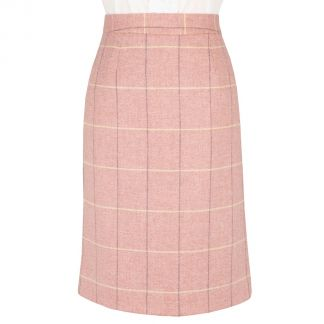 Cordings Pink Richmond Tweed Pencil Skirt Main Image