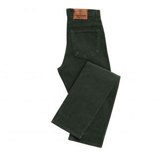 Cordings Olive Babycord Slim Jeans Main Image