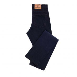 Cordings Navy Babycord Slim Jeans Main Image
