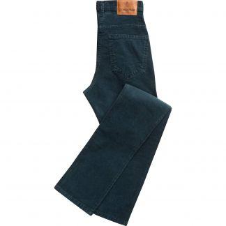 Cordings Teal Babycord Slim Jeans Main Image