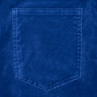 Cordings Rich Blue stretch velvet jeans Different Angle 1