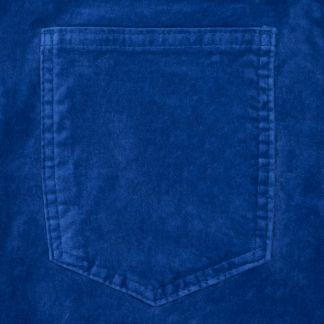 Cordings Rich Blue stretch velvet jeans Different Angle 1