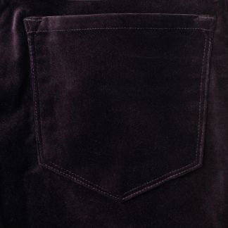 Cordings Aubergine Stretch Velvet Trousers Different Angle 1