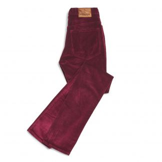 Cordings Bordeaux stretch velvet jeans Main Image