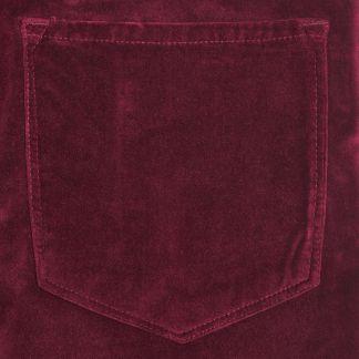 Cordings Bordeaux stretch velvet jeans Different Angle 1