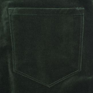 Cordings Green Olive stretch velvet jeans Different Angle 1