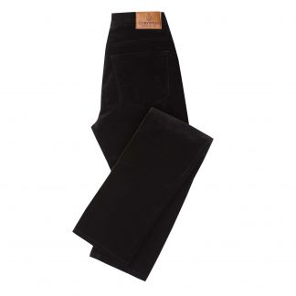 Cordings Black stretch velvet jeans Main Image