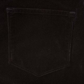 Cordings Black stretch velvet jeans Different Angle 1