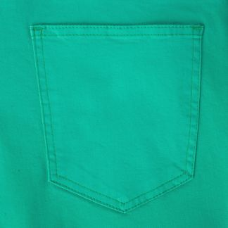 Cordings Green Stretch Cotton Slim Leg Trousers  Different Angle 1