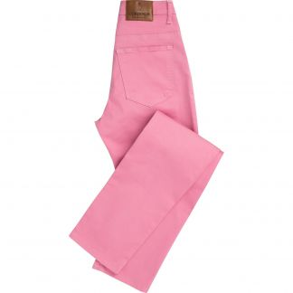 Cordings Pink Stretch Cotton Slim Leg Trousers  Main Image