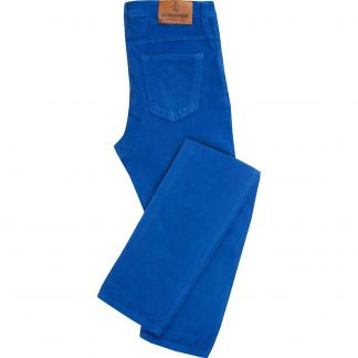 Cordings Royal Blue Stretch Needlecord Jeans  Main Image