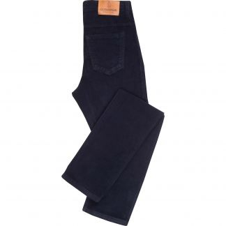 Cordings Navy Stretch Needlecord Jeans  Main Image