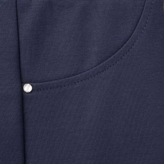 Cordings Navy Cotton Stretch Pull Up Trouser Different Angle 1