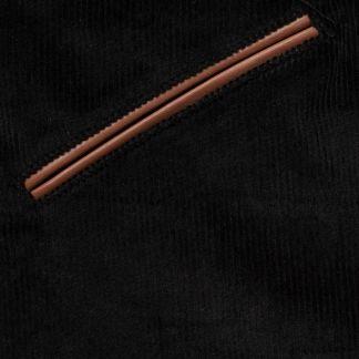 Cordings Black Stretch Needlecord Jodhpurs Different Angle 1