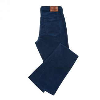 Cordings Navy Soft Stretch Needlecord Jeans Main Image