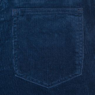 Cordings Navy Soft Stretch Needlecord Jeans Different Angle 1