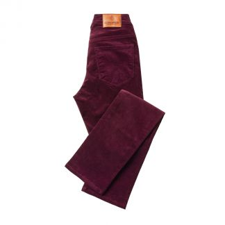 Cordings Plum Stretch Needlecord Trousers Main Image