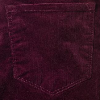 Cordings Plum Stretch Needlecord Trousers Different Angle 1