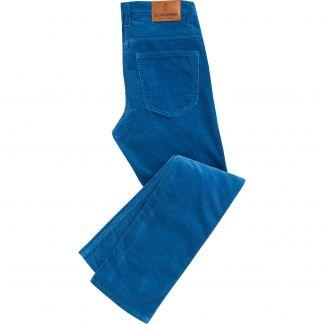 Cordings Blue Pima Cotton Needlecord Jeans Main Image