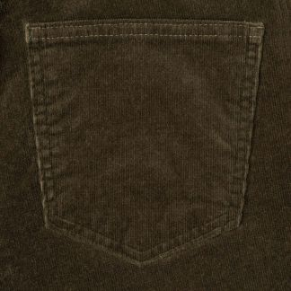 Cordings Olive Soft Stretch Needlecord Jeans Different Angle 1
