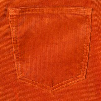 Cordings Orange Soft Stretch Needlecord Jeans Different Angle 1