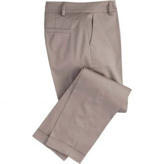 Cordings Taupe Cotton Stretch Crop Trousers Main Image