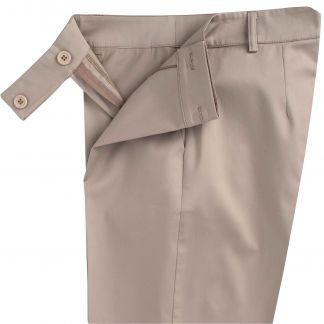 Cordings Taupe Cotton Stretch Crop Trousers Different Angle 1