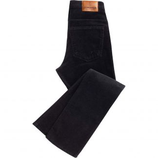 Cordings Black Soft Stretch Needlecord Jeans  Main Image