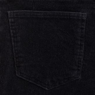 Cordings Black Soft Stretch Needlecord Jeans  Different Angle 1