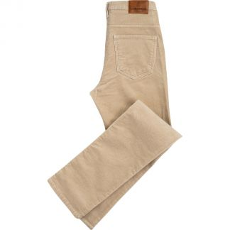 Cordings Beige Soft Stretch Needlecord Jeans  Main Image
