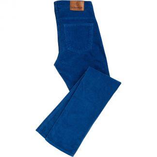 Cordings Blue Corduroy Trousers Main Image