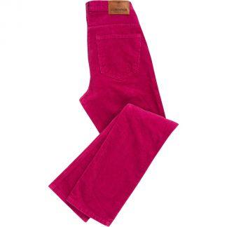 Cordings Raspberry Stretch Corduroy Trousers Main Image