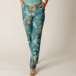 Cordings Floral Stretch Trousers Main Image
