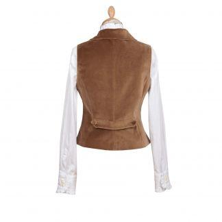 Cordings Brown Velvet Waistcoat Different Angle 1
