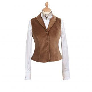 Cordings Brown Velvet Waistcoat Main Image