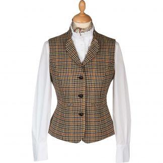 Cordings Wincanton Tweed Fitted Collared Waistcoat Main Image