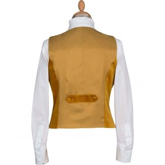 Cordings Gold Velvet Waistcoat Different Angle 1