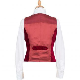 Cordings Raspberry Velvet Waistcoat Different Angle 1