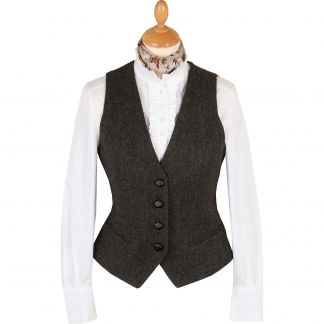 Cordings Green Wetherby Tweed Tailored Waistcoat Main Image