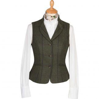 Cordings Green Heathfield Tweed Fitted Waistcoat Main Image