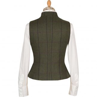 Cordings Green Heathfield Tweed Fitted Waistcoat Different Angle 1