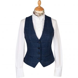 Cordings Navy Eton Fitted Waistcoat Main Image
