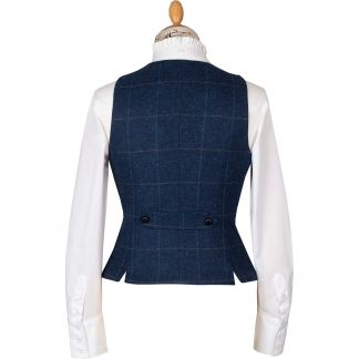 Cordings Navy Eton Fitted Waistcoat Different Angle 1