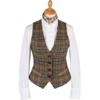 Cordings Templeton Check Tailored Tweed Waistcoat Main Image