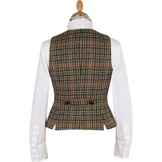 Cordings Templeton Check Tailored Tweed Waistcoat Different Angle 1