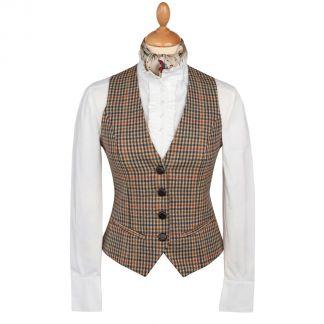 Cordings Wincanton Tweed Uncollared Waistcoat Main Image